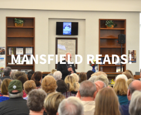 Mansfield Reads with an audience watching