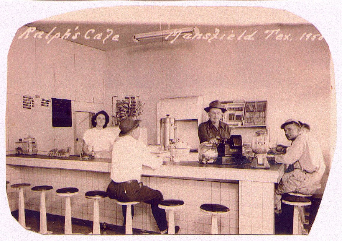 Ralphs Cafe at 128 North Main - 1945 to 1955 Owned and Operated by William and Ethel Nettle
