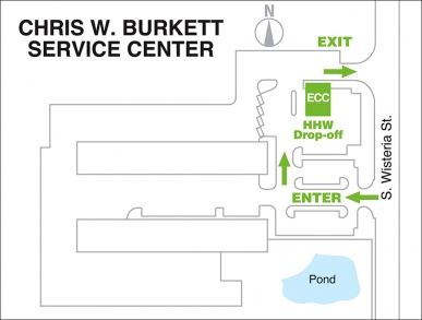 Environmental Collection Center Map (JPG) Opens in new window